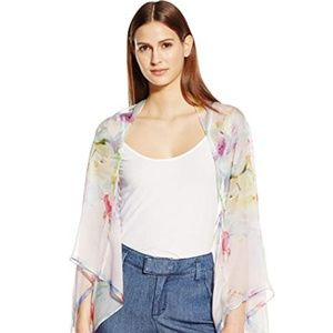 Ted Baker Hanging Gardens silk cape scarf